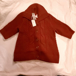 RED CHICO'S  CARDIGAN 3/4 SLEEVES SWEATER